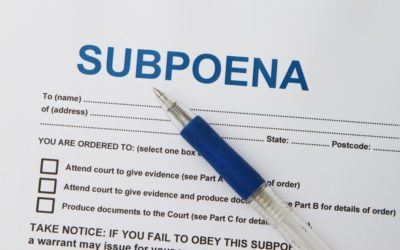 I Received a Court Subpoena in SC… Now What?